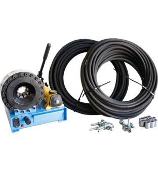 BUNDLE - Mobile Hose Crimping Machine for Hydraulic hose HMSP-P16HP incl. die set and hose material