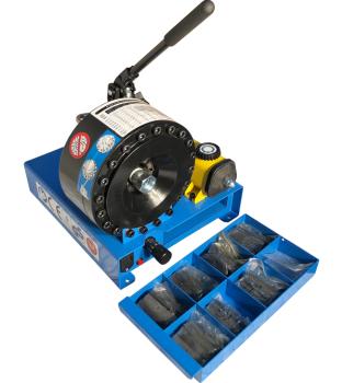 Mobile Hose Crimping Machine for Hydraulic hose HMSP-P16HP incl. die set