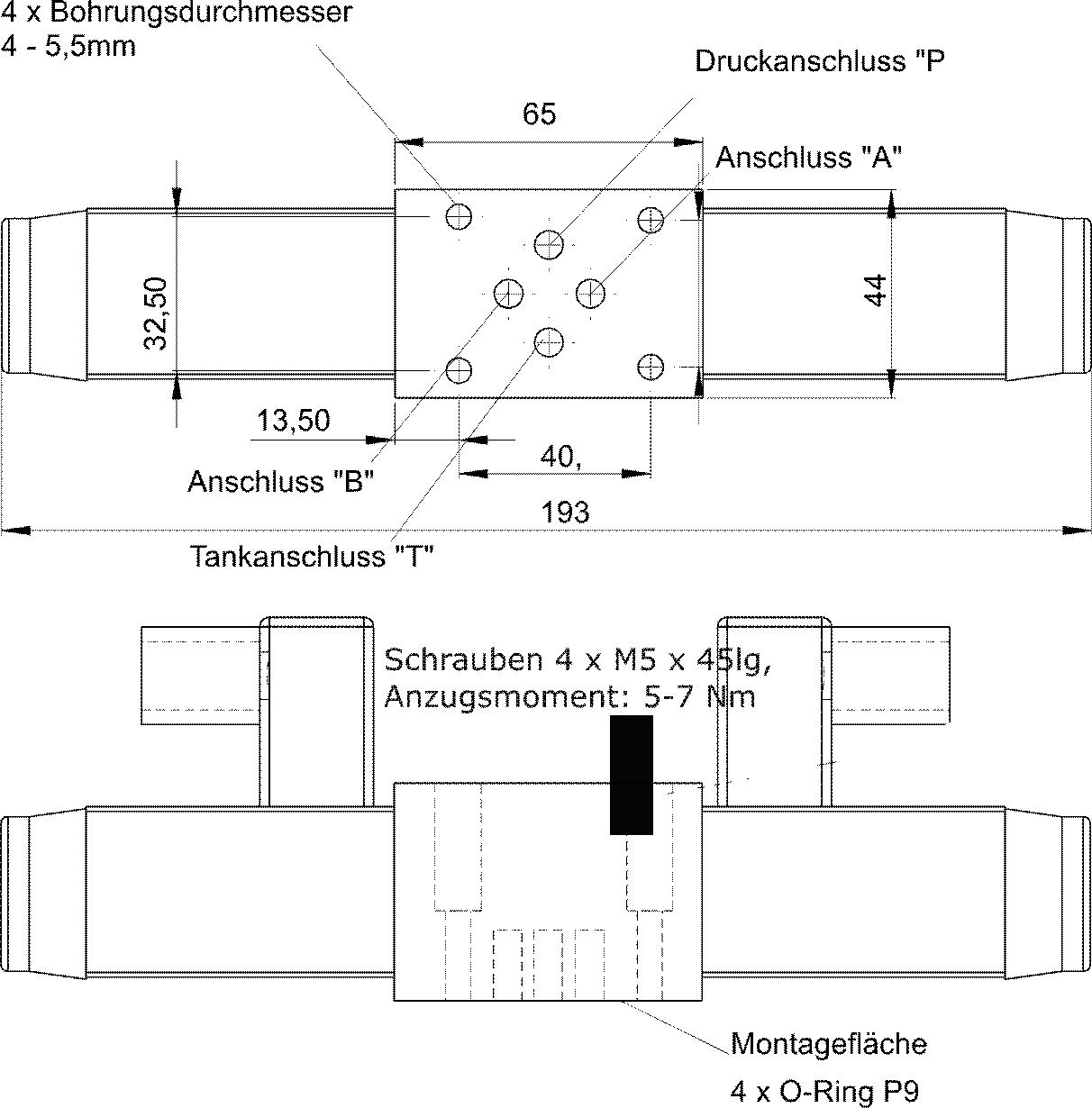 Anschluss Wegeventil DSG-3C2-N01-220V