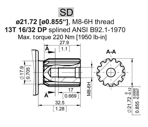 Hydraulik shop hydromot hydraulikpumpe axialkolbenpumpe welle verzahnt 13t rechtsdrehend - Welle mobel katalog ...