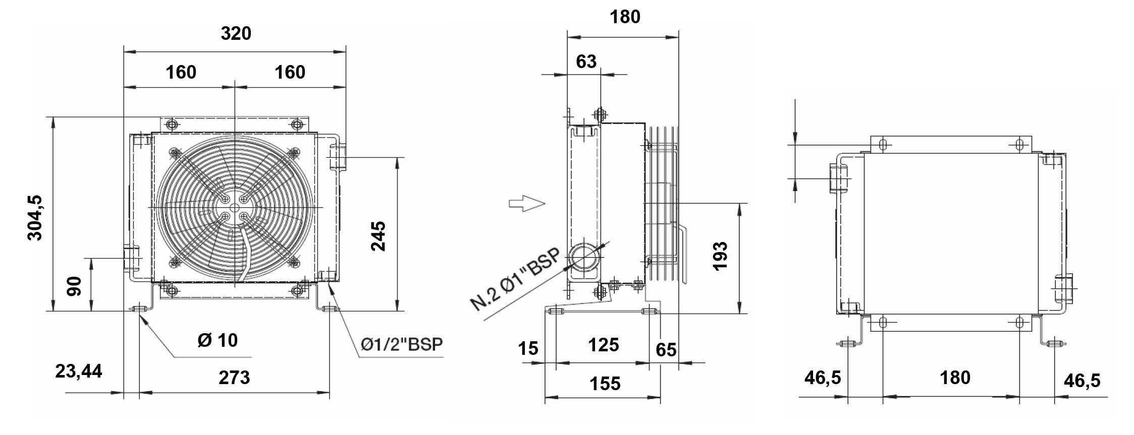 Hydraulik Shop Hydromot Hydrauliklkhler L Luftkhler 24 Volt 4020 Wiring Diagram Komponente Zur Integration In Hydraulische Systeme