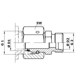 Unterteil für Milchsammelstück passend Delaval MC31 Mc3 Sammelstück 250CC